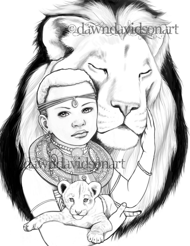 Princess zumaridi lion african adult coloring pages etsy