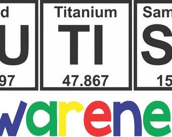Periodic table etsy autism periodic table cut file urtaz Gallery