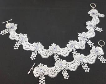 White Choker necklace set