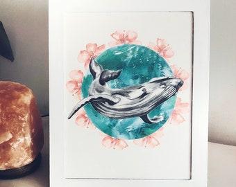Whale - Art Print