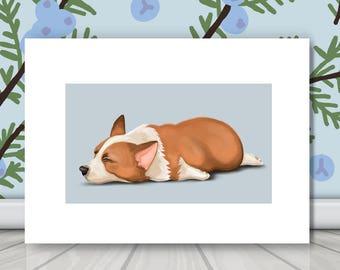 7f287a38af238 Nursery wall art/Sleeping Dogs Collection/Corgi