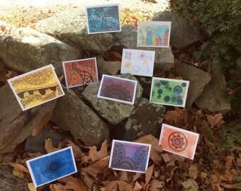 Notecards Set D- 10 Cards w/Envelopes per pkg
