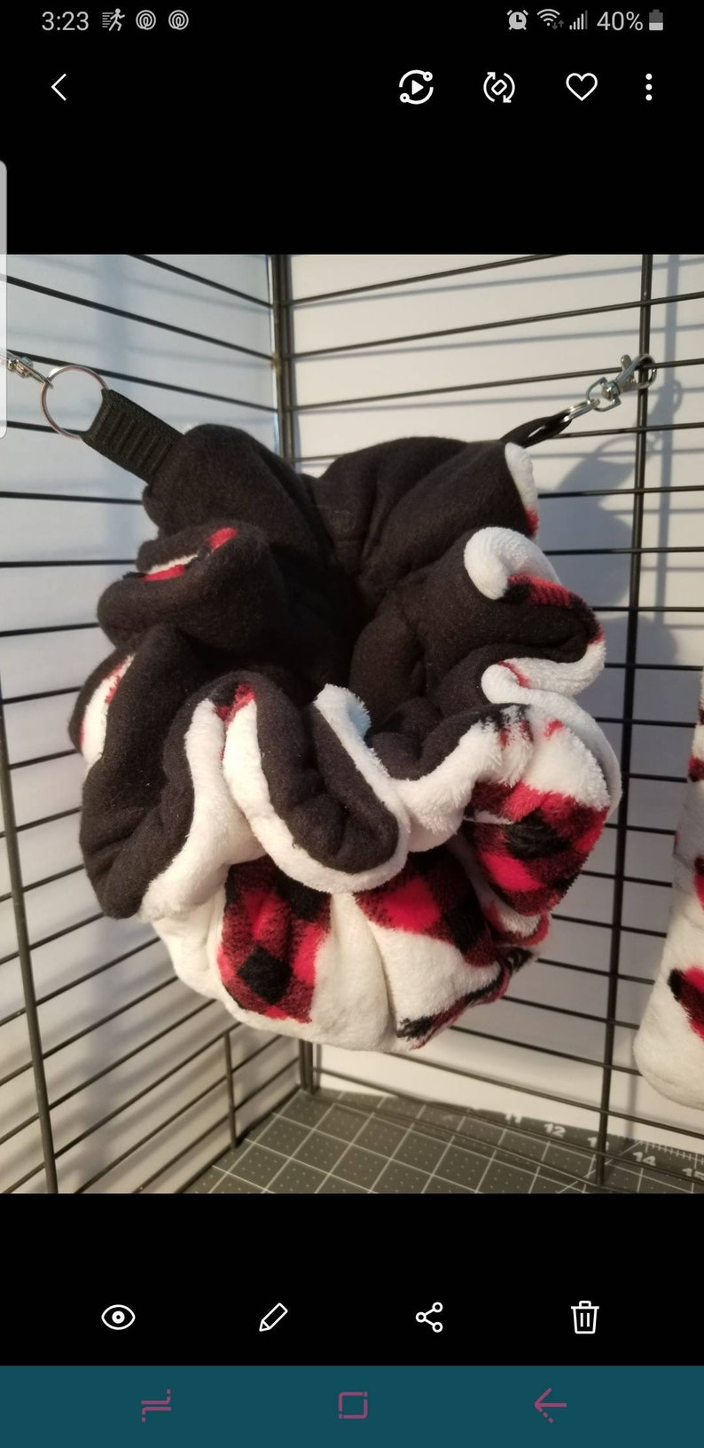 Ferrets for Rats and other Small Animals Sugar Gliders Multiple colors available. Hanging Snuggle Sack pouch Chinchillas