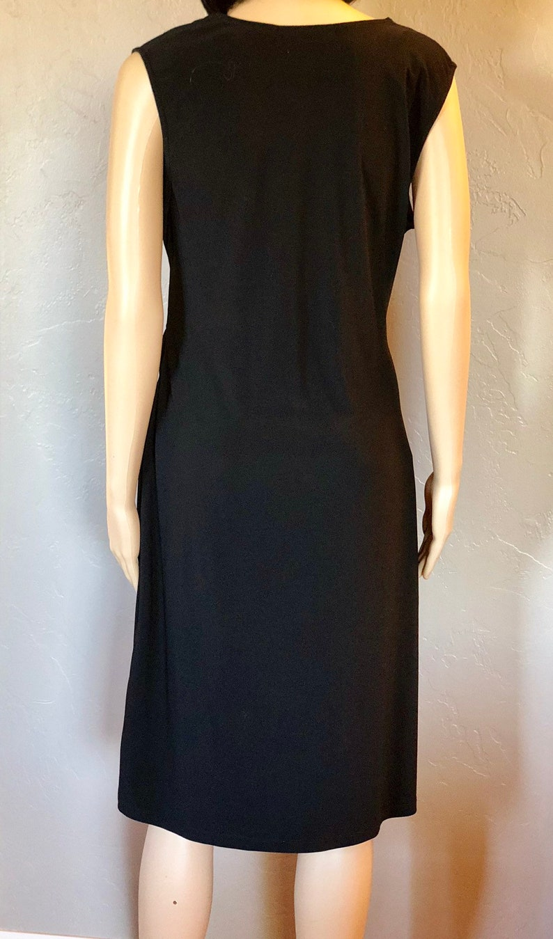 Dress Cross over V Neck Faith Love /& Passion Dress Little Black Dress Size Large Black Dress Vintage 90/'s F.L.P