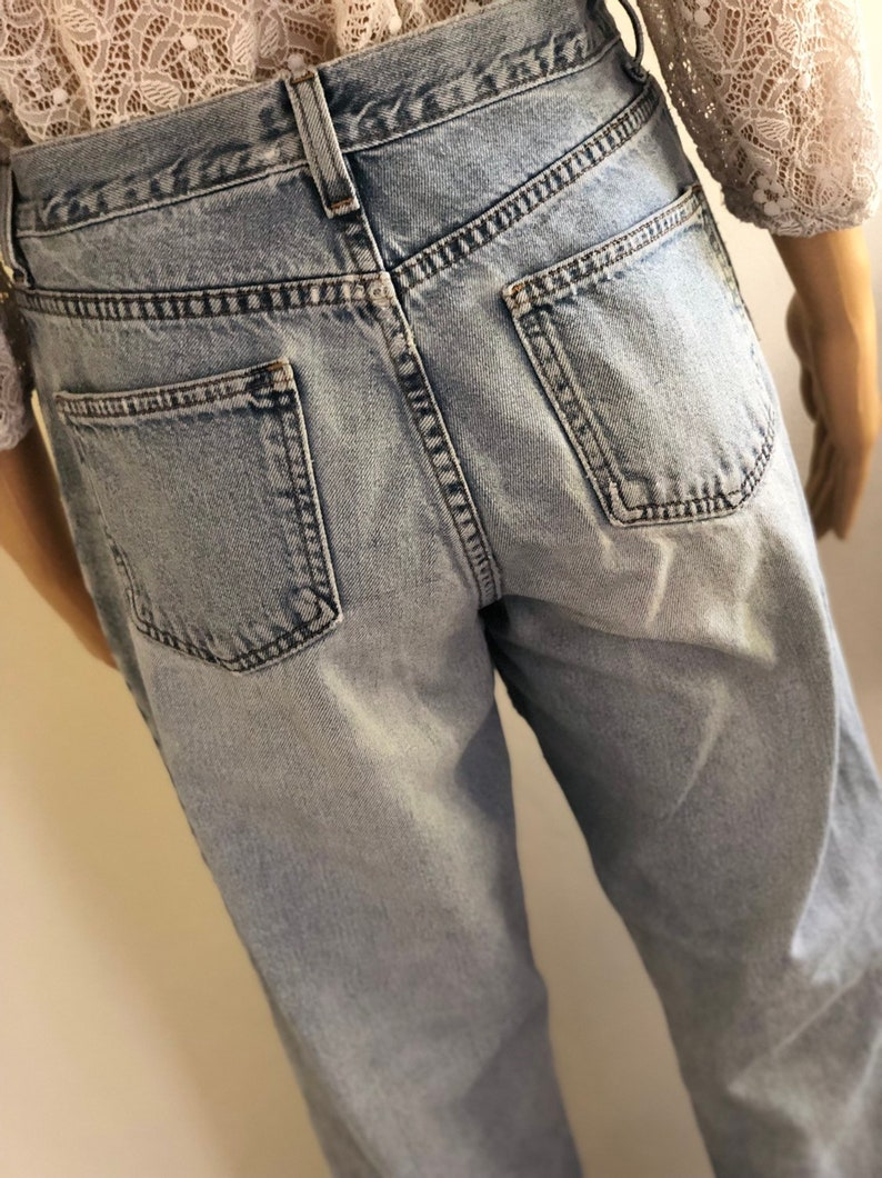 Size SmT Jeans Comfort Blue slightly distressed High Rise Jeans Made in Mexico Women/'s LL Bean Jeans Vintage LL Bean