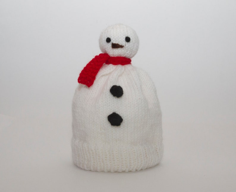b9ef6d0a5 Knitted Snowman Hat / Baby Holiday Beanie / Kids Snowman Hat / Snowman  Novelty Hat