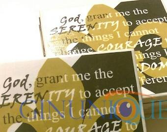 Serenity Prayer Fleur De Lis Coasters