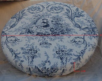 60 cm round ball diameter/: Bobbin Lace round pillow 60 centimeters