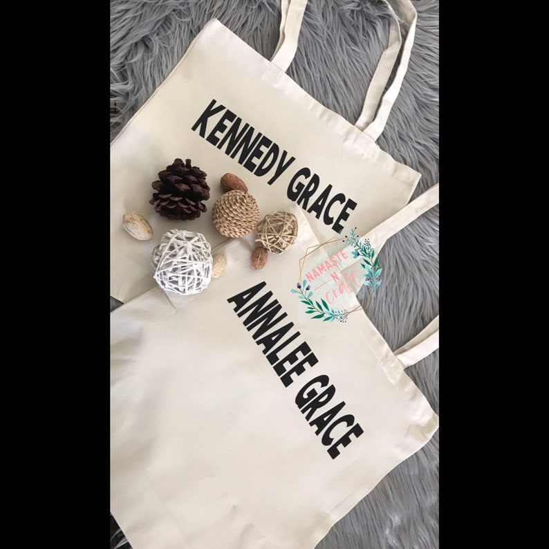 Custom Name Canvas Tote Bag