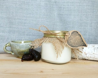 8 oz 'White Tea & Fig' Scented Soy Wax Candle