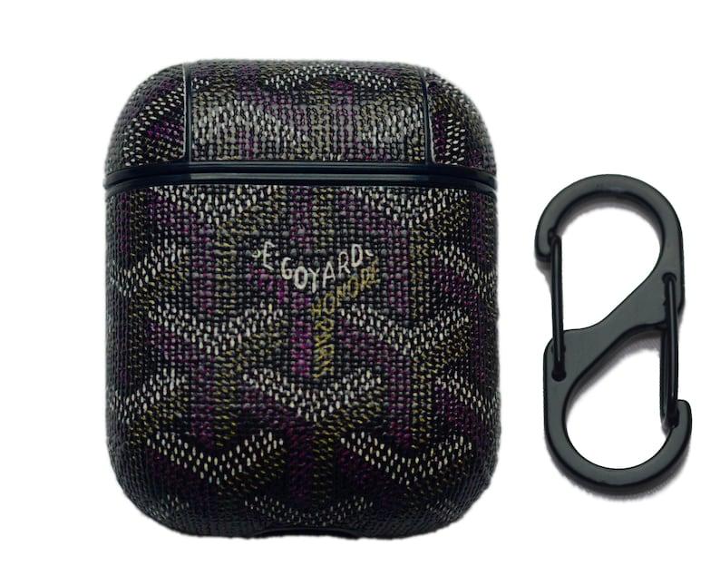 finest selection 0cad2 14ea6 Premium Airpod Case Cover 'Goyard Black'