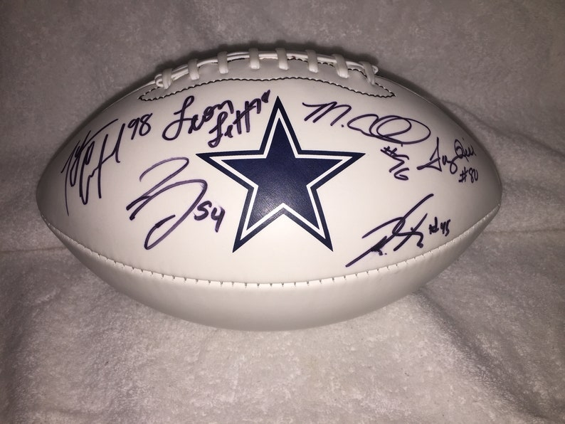 be59e57eb1d Dallas Cowboys Multi-Signed 8 Signatures with Tony Hill Wilson | Etsy