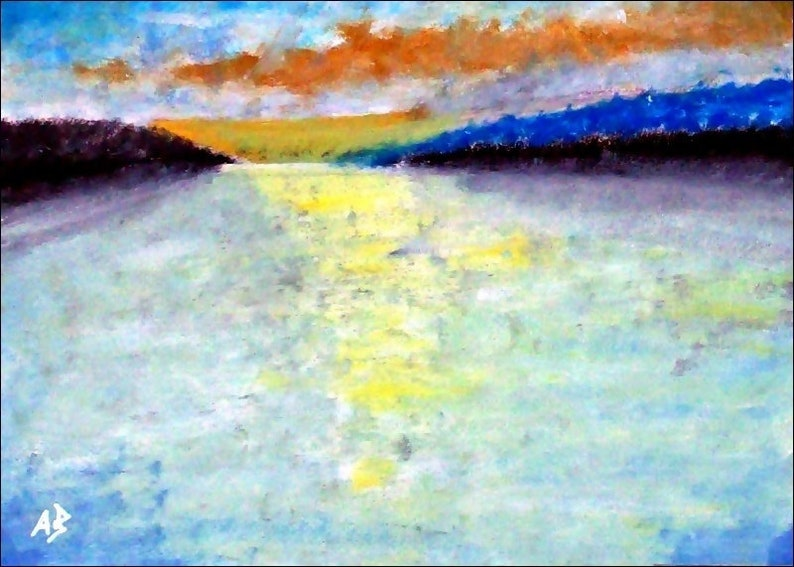 2018  07_Sonnenuntergang by the sea oil painting landscape image 0