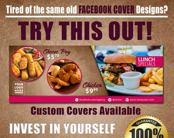 Food Service Facebook Fan Page Cover