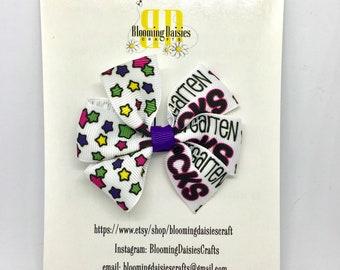 Kindergarten Rocks Pinwheel Hair Bow for Girls / Hair clip / School / Back to School / Barrette / Hairbow