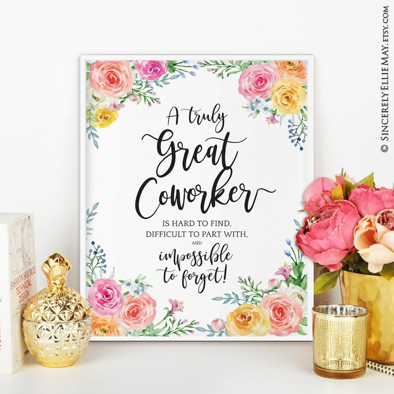 coworker friend leaving goodbye gift office wall art decor