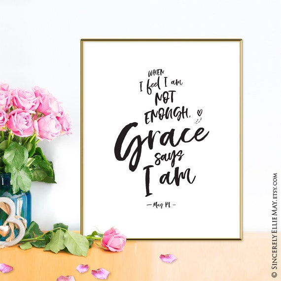 Grace Quote Wall Art - Gods Grace Sign Printable Christian Quotes, an  Inspirational Original Poem by May PL for the Home and Office 40201