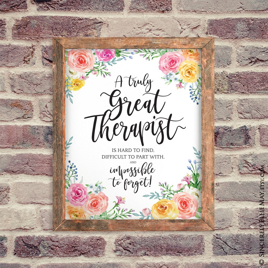 Thank You Therapist Gift Beautiful Appreciation Quote ...