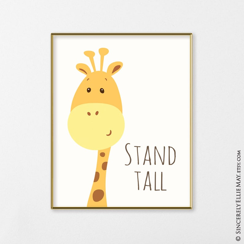 Remarkable Stand Tall Giraffe Baby Shower And Nursery Wall Art Gift Etsy Wiring Cloud Geisbieswglorg