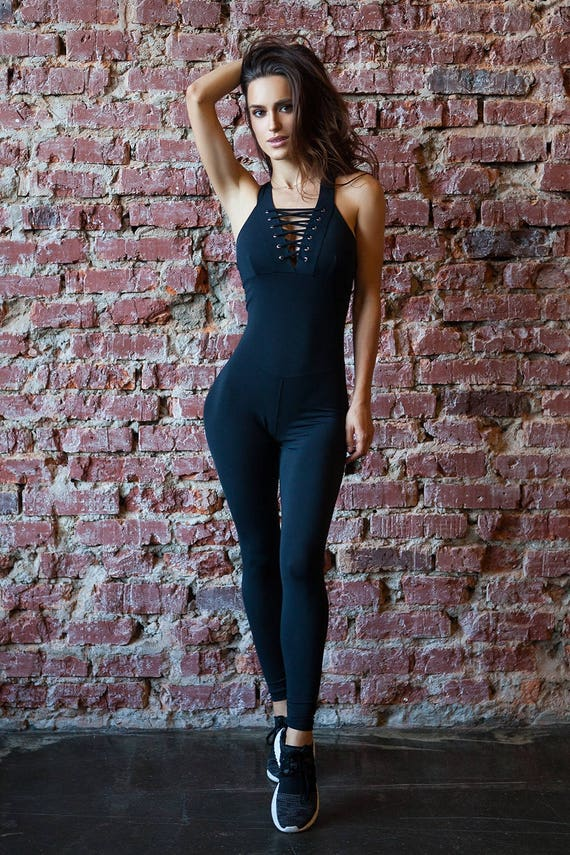 fast delivery top-rated authentic great variety styles Black Unitard Bodysuit Catsuit Jumpsuit Brazilian Workout Activewear