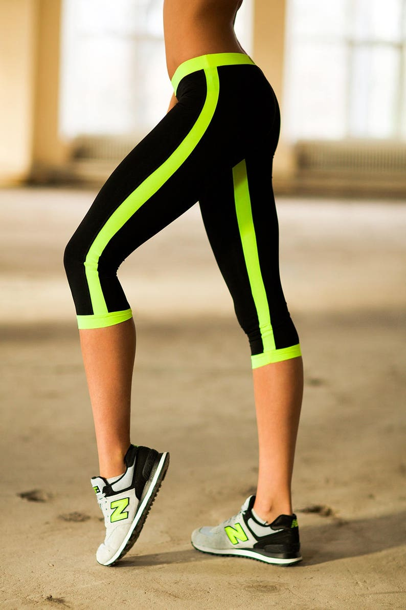ead15f32a6908 Women Yoga Pants Capris Yoga Low Rise Lemon Pants Yoga Clothes | Etsy