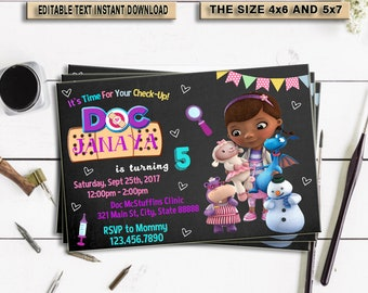 Doc mcstuffins invitations etsy doc mcstuffins birthday invitation doc mcstuffins invitations doc mcstuffins invitations instant download doc mcstuffins doc mcstuffins filmwisefo