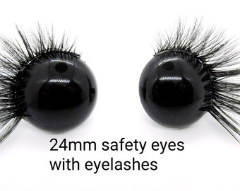 200Mm*8Mm Dolls Eyelashes Black Brown Doll Accessory KW