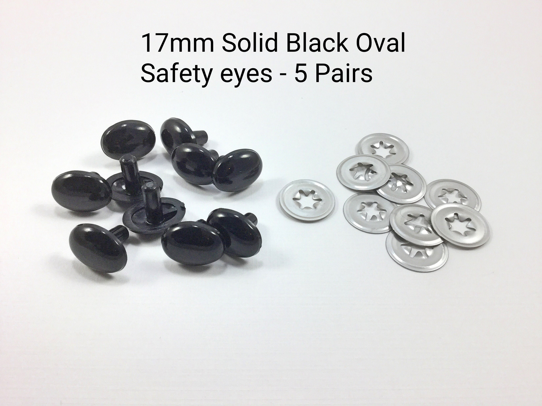 Teddy bear Soft toy making 8mm Solid black safety eyes with plastic backs for Amigurumi
