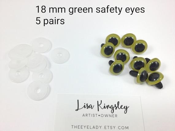 Online Shop Bybrana 142pcs 6-14mm Black Plastic Craft Safety Eyes ... | 428x570