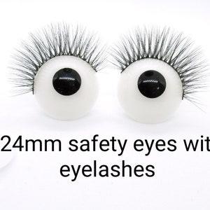 6X 35 millimeters diameter 3 pairs of Puppet Eyes