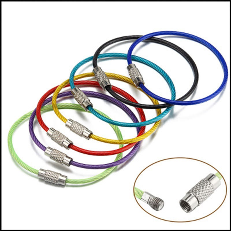 Mix Color Coated 1 5 X 150mm Stainless Steel Wire Keychain
