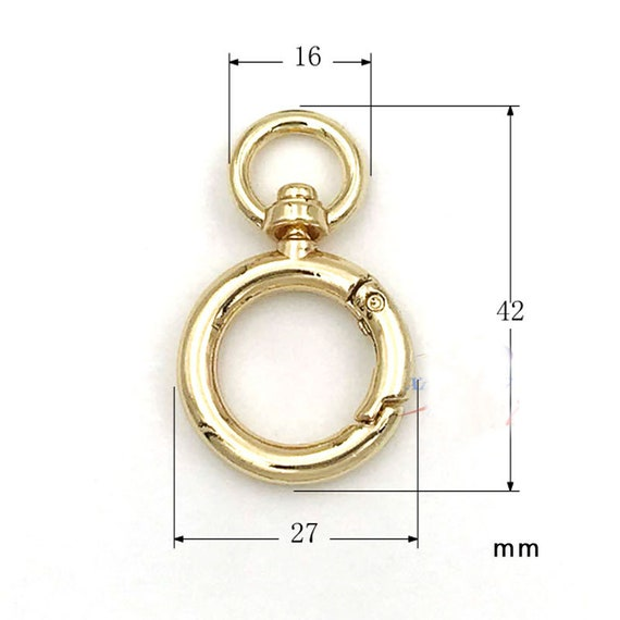 18 Stück Retro Runde Frühling Karabinerhaken Clip Key Handtasche