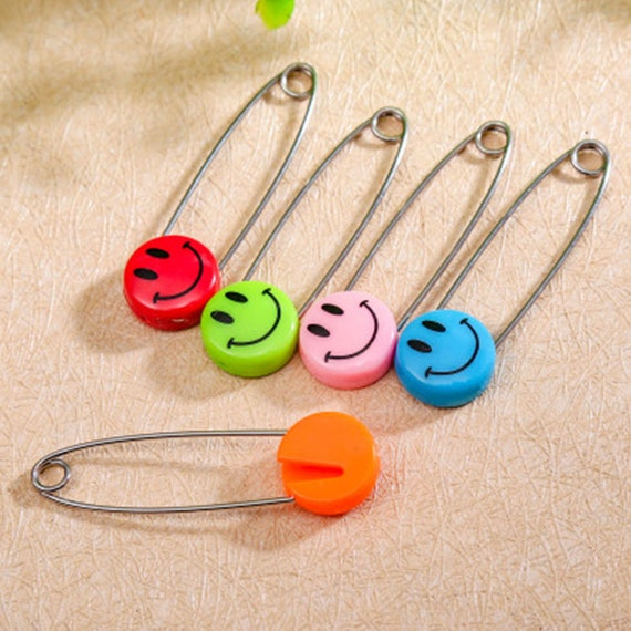 100 Colorful Needle Clip Knitting Craft Stitch Crochet Copper Markers Locking PK