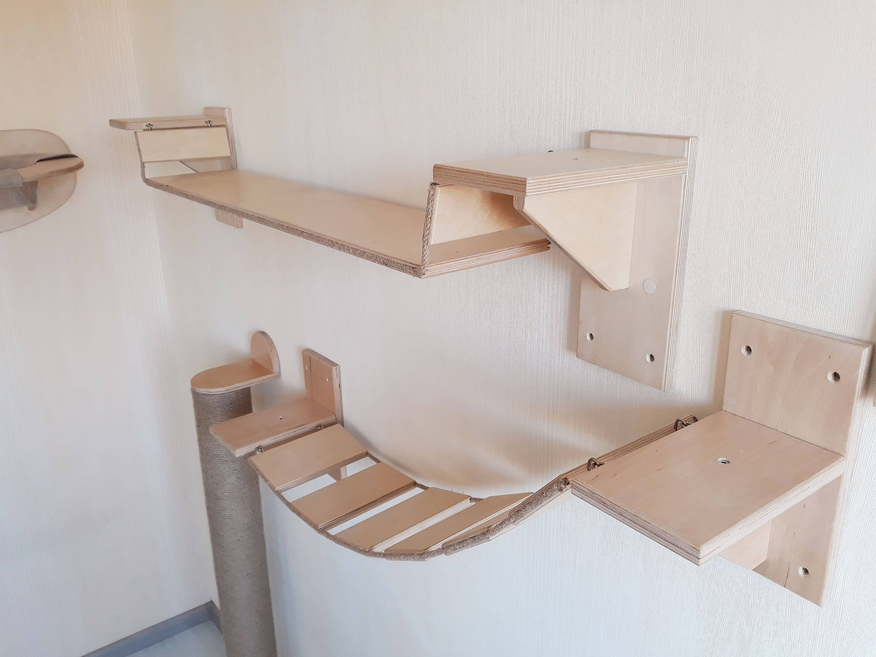 Cat Furniture Wall Mounted Cat Furniture Cat Shelves Cat Wall Etsy