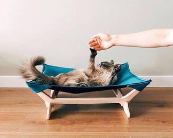 Cat hammock, Сat hammock bed, Cat hammock turquoise, Pet hammock, cat bed, Cat furniture, Cat bed furniture, hammock cat, Furniture for cats