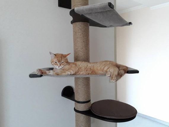 Cat Furniture Wall Mount Cat Furniture Tree Cat Shelves Cat   Etsy