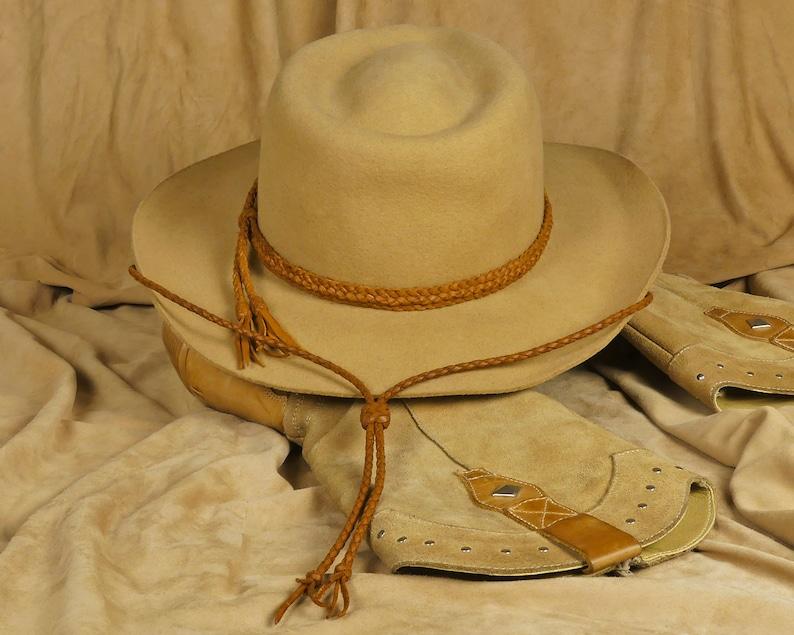 Leather cowboy hat chin strap