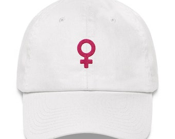 The Future is Female Hat: Pink Embroidery