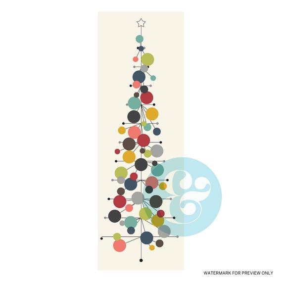 mid century modern christmas tree digital download etsyModern Christmas #21
