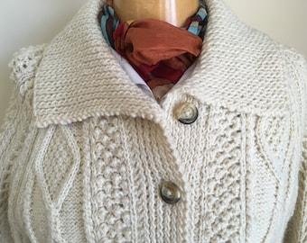f3a80b02b Vintage hand knitted Scottish aran woman