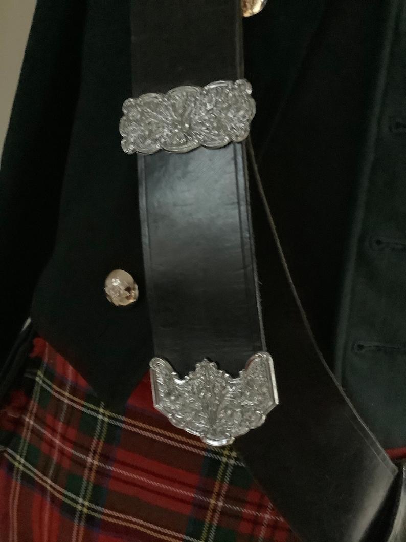 Vintage Scottish drum major pipers cross body belt,leather