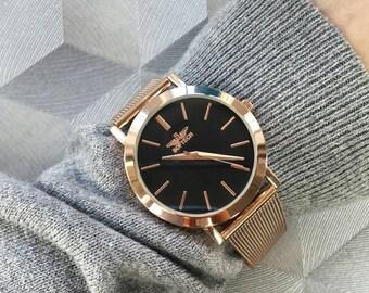 47619e88869b Softech London Modern Mesh Strap Rose Gold Wrist Watch Free UK Delivery