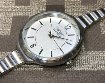 b1782469fdf Slender Ladies Watch Brushed Chrome Finish Everyday Wear From Softech London