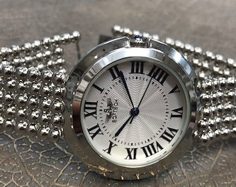 5deca31b60c Lady s Chrome Stylish Every Day Watch By Softech London Gift For Her Watch  For Lady