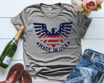 c03886f8 Made in the USA T-Shirt, Made in America T Shirt, Patriotic Shirt,  Independence Day Toddler Shirt, Graphic T Shirts, 4th of July Shirts