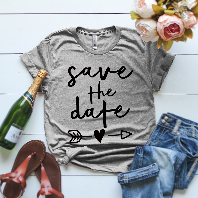 Save The Date Shirts SAVE THE DATE Baseball Set Couples Shirt image 0