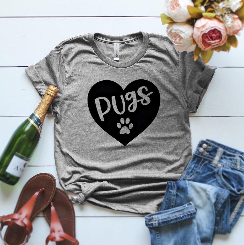 43e6a16bdc Pugs T-Shirt Pug Mama T Shirt Women s Pug Shirt Pug Mom