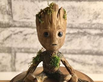 152894f288440 Real Wood Baby Groot Gardians of the Galaxy Wood Groot I Am Groot Fan Art  Cosplay 3D Print Gift For Her Gift For Him