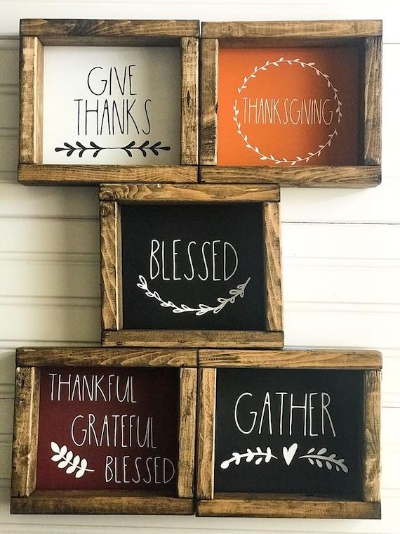 Thanksgiving RAE DUNN Inspired Fall Autumn Gobble Til You Wobble Wood Sign