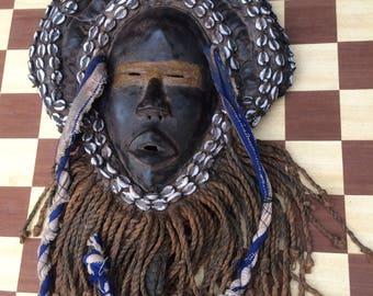 Antique Tribal Art African hip mask